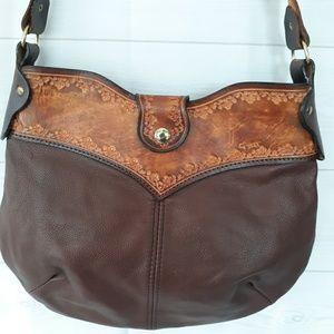 Stine hand tooled leather purse